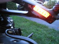 4x Universal Motorcycle Black 5 LED Turn Signal Indicators Blinker Amber Light /