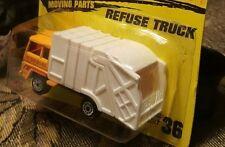 Matchbox Refuse Truck, #36, 1994 issue, orange and white disposal unit 24