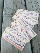 10 Vintage Skelly Oil Company Supreme Motor Oil Barrel Drum Hang Tags Lot of 10