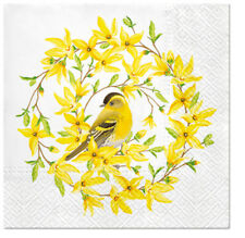 Forsythia & Yellow Bird 40 Spring Easter Decorative Lunch Paper Napkins