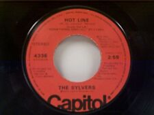 """SYLVERS """"HOT LINE / THAT'S WHAT LOVE IS MADE OF"""" 45"""