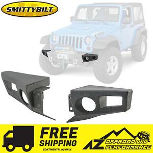Smittybilt XRC Crawler End Plates For 07-18 Jeep Wrangler JK JKU 76830 Black