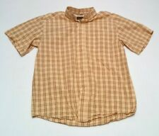 Mens Ariat Pro Series Western Shirt Size Large Short Sleeve Button Down Plaid