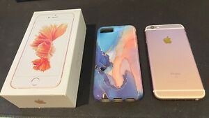 Apple iPhone 6s (Rose Gold) 64GB UNLOCKED with box and EarPods PRISTINE