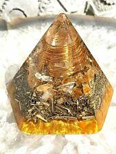 (Mini - 2.25 x 2.25 inches) Orgone Orgonite® Pyramid - Quartz/Citrine