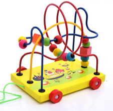 3 Lines Wooden Bead Maze (Yellow)