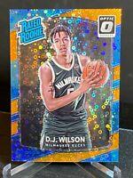 D.J. WILSON /193  PRIZMS HOLO FAST BREAK ORANGE RC 2017-18 OPTIC Disco