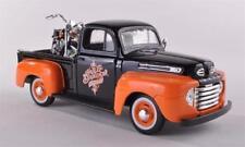 Ford Usa F-1 Custom Usa + Harley Davidson Flh Duo Glide 1958 Maisto 1:24 MI32180
