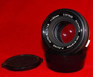 Olympus OM-System Zeiko 50mm F1.8 Prime Manual Focus Lens