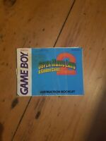 Super Mario Land 2 Nintendo Gameboy Instruction Manual Only