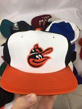 VTG 90's UI Inc Baltimore Orioles Snapback Hat Green Bill Color Block Big Logo