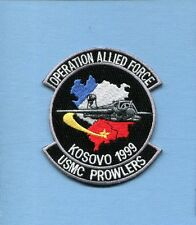 VMAQ KOSOVO OP ALLIED FORCE 1999 USMC Marine Corps EA-6B PROWLER Squadron Patch