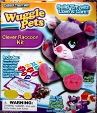 WUGGLE PETS,CLEVER RACCOON KIT,BUILD 'EM WITH LOVE & CARE,PLUSH TOY,KIDS 4+,NEW