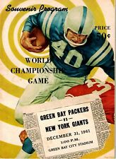 1961 Green Bay Packers NFL Championship Game Program vs. New York Giants EX+
