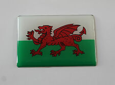 WALES FLAG Sticker/Decal 64mm x 44mm - WITH HIGH GLOSS DOMED GEL FINISH