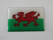 Gales Bandera Etiqueta/Etiqueta 64mm X 44mm-con acabado de alto brillo abovedado Gel