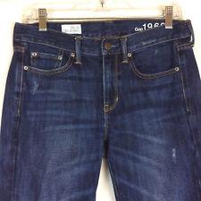 GAP 1969 Sexy Boyfriend Jeans Size 26 2R Womens Relaxed Distressed Dark Denim