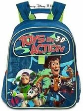 New Disney Store Toy Story Buzz Woody Backpack Book Bag Tote Toys in Action 3D