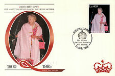 (88219) Sierra Leone FDC  Queen Mother 95th Birthday 10 July 1995