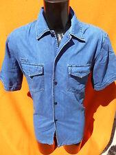 PAUL SMITH Jeans Chemise Camisa Shirt True Vintage Denim Blue Rock Army Levis