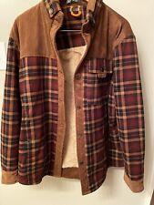 Fashion Military Supplies Series Brown Plaid Corduroy Coat 56 Lined Button Down