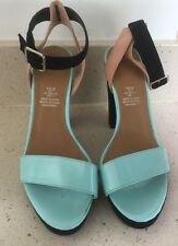 H&M Turquoise And Navy High Heeled Size38 Shoes