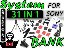 Mount system SET - SONY ACTION CAM HDR AS20 AS30 AS30V AS50 Suction Cup Battery