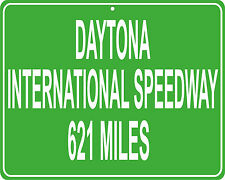 Daytona International Speedway in Florida mileage sign - distance to your house