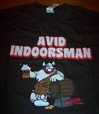 HAGAR THE HORRIBLE Beer Avid Indoorsman T-Shirt SMALL NEW w/ tag