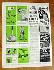 1949 Spalding Golf Ball Ad  Clubs that Use their Heads