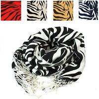 High Quality Heavyweight Zebra Print Pashmina Shawl Scarf Wrap Hijab