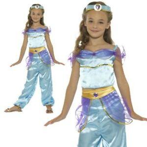 Girls Arabian Princess Fancy Dress Costume Jasmine Aladdin Genie Belly Dancer