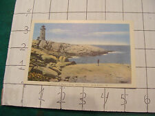 Vintage Postcard: NOVA SCOTIA, HALIFAX, lighthouse at peggys cover