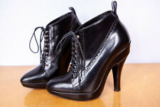 Burberry Black Whitham 130mm Lace Up Boots/Booties Size UK3, US RRP $999