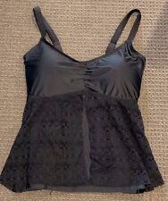 AS NEW AUTOGRAPH Black Tankini Top Plus Size 14 Swimsuit/Swimwear