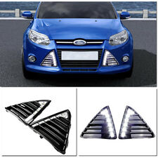 Nue 2x LED 12V Tagfahrlicht Licht fog Lampen cover for 2011~2014 Ford Focus III
