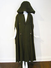 Yohji Yamamoto Y-3 Long Maxi Poncho Cape Coat w/Hood Green Wool Sz Small NWT