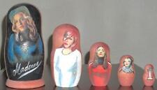 Madonna Matryoshka Nesting Dolls ~ 5 Different Hand Painted Dolls ~ Very Rare!