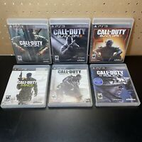 Playstation 3 PS3 Call of Duty Lot-MW3, Black Ops 1 2 & 3, Ghosts, Advanced Warf