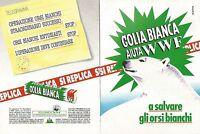 X1721 Golia Bianca aiuta WWF - Pubblicità del 1993 - Vintage advertising