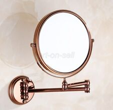 Rose Gold Copper Folding Arm Magnifying Cosmetic Bathroom Mirror aba630