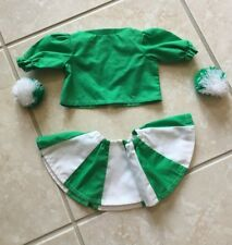 Green and White Cheerleader Outfit For American Girl Dolls