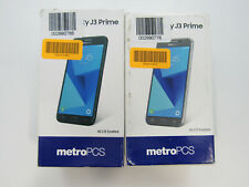 Lot of 2 Open Box Samsung Galaxy J3 Prime J327T1 MetroPcs 16Gb Check Imei Jc1546