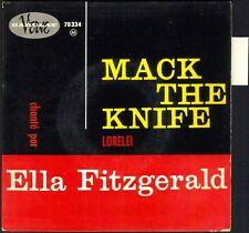 ELLA FITZGERALD MACK THE KNIFE / BRECHT WEILL 45T EP JAZZ BIEM VERVE 70.334