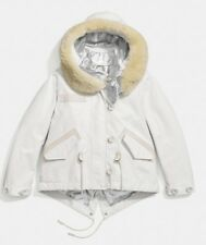 COACH Snorkel Parka Waterproof Jacket White Size XS uk 6 RRP - £925