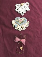 3 Beautiful and Unusal Hand Crafted Angel Pins