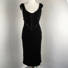 Karen Millen Ladies Black Stretch Corset Bodycon Retro 50s Dress UK12 US8 EU40