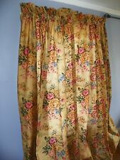 "Ralph Lauren Fabric ""Astor"" Custom Drapes-Curtains-New Last Pair"