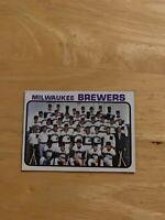 1973 Topps Milwaukee Brewers 127 Checklist Baseball Card Mlb Team Rookie