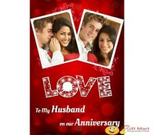 PERSONALIZED Marriage Anniversary Picture Photo GREETING CARD 2 Love Design